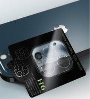 Protectores de la pantalla de la lente de la cámara Protector de cristal de la parte trasera 3D Tapa completa anti-rasguño resistente a la suciedad para iPhone 13 Pro Max 12 Mini 11 Teléfono celular DHL
