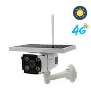 4G SIM-карта Солнечное аккумуляторные камеры 1080P Водонепроницаемый открытый IP Wi-Fi камера аудио беспроводной безопасности видеонаблюдения CCTV