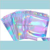 Embalaje Oficina Escuela Negocio Industrial Resellable Olor Bolsos Proyector Papel Foil Pouch Flat Aluminio Láser Color Mylar Packaging Bag para la par