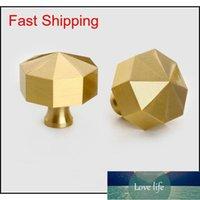 Modern Solid Brass Cabinet Knobs Handles Furniture Dresser Kitchen Drawer Cupboard Door Knobs Pull qylJix bde_luck