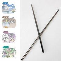 Chopsticks 1 Pair Stainless Steel Chinese Non-Slip Reusable Metal Chopstick Kit Sushi Sticks Kitchen Tools