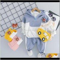 Baby, Maternity Drop Consegna 2021 Hylkidhuose Baby Boys Ragazze Abbigliamento Abbigliamento Set Bambino Abbigliamento Neonati Abiti con cappuccio Bear T Shirt Pants Kids Ch