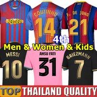 20 21 FC BARCELONA camisetas de futebol barca camiseta de futbol ANSU FATI 2020 Messi GRIEZMANN DE JONG Conjunto de camisa de futebol Homens Mulheres Kids Kit uniformes