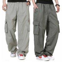 Men's Pants Fashion Hiphop Plus Size M-6XL Cargo Men Casual Loose Baggy Straight Trousers Streetwear Harem Clothing