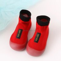 First Walkers Kids Shoes Socks Infant Walker Boys Red Sock Unisex Knit Baby Girls Booties Soft Soles Spring Autumn Toddler