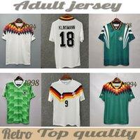 Trikots, Fussball Jersey1990 1998 1988 Deutschland Retro Littbarski Ballack Fussball Klinsmann Matthias 2006 2014 shirts Kalkbrenner Jersey 1996 2004