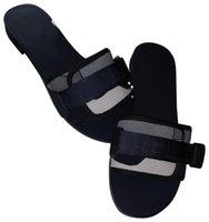 2021 Devrimi Katır Slayt Terlik Kadınlar Siyah Haki Denim Mavi Kamuflaj Motifi Teknik Kumaş Tasarımcısı Sandalet Ayakkabı Boyutu 35-40