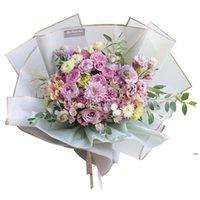 Florista papel de embrulho 20 pcs / lote 58x58cm buquê de flores impermeável fornece casamento casamento dia dos namorados bouquet presente fwd7213