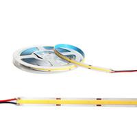 COB LED 스트립 조명, 유연한 LED 가벼운 문자열 480leds / M, 320LED / 미터 DC24V 4000K 테이프 램프 가정, 침실, 주방 장식, DIY 조명 (DV 24V) Crestech168