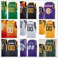 Özel Baskılı Basketbol Formaları 45 Donovan 10 Mike Mitchell Conley 44 Bojan Bogdanovic Clarkson Joe Ingles Rudy Gobert Royce O'Neale Derrick, Trent Forrest Favorileri
