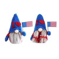 Independence Day Drap Poupée Ornement Drapeau Drapeau Drapeau Peluche Peluche Toy Patriotique Gnome Stickers sur mesure Cadeaux de décoration de la maison de Pâques