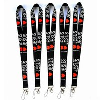 I Love JESUS Styles Neck Lanyard for MP3 4 Cell Phone ID Card Key Chain Straps Black Fashion Good quality