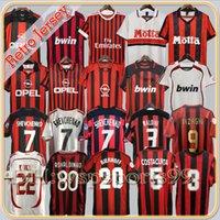93 94 96 96 97 Retro Milan Soccer Jersey Kaka Ronaldo Gilardino Ronaldinho Gullit Shevchenko Ibrahimovic Maldini Van Basten Baresi 04 05 06 07 07 11 12 12 الفانيلة الكلاسيكية
