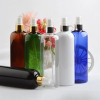 Бутылки для хранения JARS 14 шт. 500 мл Пустой черный спрей с золотым алюминиевым воротником насос белый пластиковый контейнер для бутылки тонкого тумана распылитель