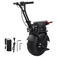 """18 """"빅 싱글 휠 스쿠터 한 바퀴 자체 균형 균형 성인 전기 오토바이 스쿠터와 좌석 60V 전기 외발 자전거 스쿠터"""