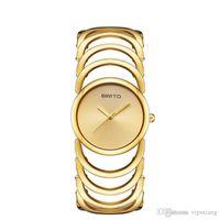 المرأة أزياء اللباس الساعات جوفاء سوار حزام اليد الكوارتز ساعة تصميم بسيط هدية جيدة للماء ساعة اليد فاخرة