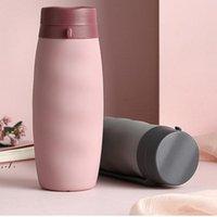 600 ml Botellas de agua plegables plegables de silicona Portátil de silicona Telescópico Telescópico plegable Botella plegable multifunción por mar LLE10490