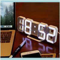 Déce GardenModern Design Relógio de Parede Digital Despertador Digital Exposição Home Sala de Estar Escritório Mesa De Mesa Da Mesa Night Drop Delivery 2021 x1dzn
