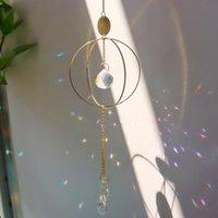 Palavras-chave decorativo objetos de cristal star lua sol pendurar decorações prismatic wind chimes colorido grânulos pingente home cr