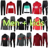 2021 2022 Hommes Enfants Soccer Tracksuits survèlement de Football Former costume Sportswear 20 21 22 Sweatshirt Long Long Full Zipper Jacket Tracksuit