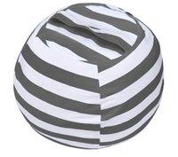 Storage Bags WEKAPO Stuffed Animal Bean Bag Chair Cover For Kids | Stuffable Zipper Beanbag Organizing Children Plush Toys