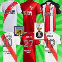 Jerseys de football de rivière 2021 2022 Álvarezpratto Fernández rétro Camisetas Hommes Football Chemises Uniformes manches courtes