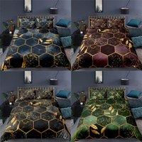 Home Textile Luxury 3D Geometry Stampa 2/3PCS Confortevole Cover Duvet Fodera Beding Bedding Set Queen e King EU / Stati Uniti / Au Size