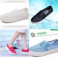 Casual shoes Summer 2021 new one legged casual board , breathable wheels, big eye hollow women's tennis VA4D