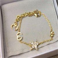 2020 versão alta pulseira de duas peças Pulseira de cinco pontas mulheres de ouro letra dourada tijolo de água encaixe encantos para pulseiras Strinestone bugigangas cruzes