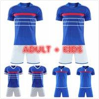 adult kids kit 1984 1998 2000 Retro soccer jerseys ZIDANE HENRY MAILLOT DE FOOT football shirt Home Trezeguet uniform