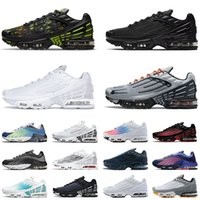2021 New Arrival Tn Plus 3 Tuned 2 Mens Womens Running Shoes Blue Black White Smoke Grey Aqua Volt Ghost Green RED Sports Sneakers Trainers Ourtdoor Runner Size 36-46