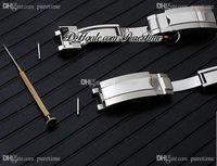 N V10 V11 V12 116610 126610 114060 Alt Watch Band Aksesuarları 904L Paslanmaz Çelik Bilezik Geri Çekilebilir Ve Uzun Katlanır Toka Puretime B2