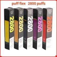 Puff Flex Eletrônico Cigarros Starter Kits 2800 Puffs Descartável Vape Pen 1500mAh Bateria 10ml Pré-preenchido 13Colors Originais Vapors Atacado DHL