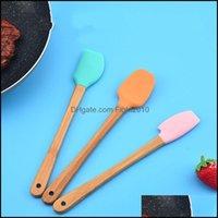 Baking Bakeware Kitchen, Dining Bar Home Gardeking & Pastry Tools Mini Sile Spata Scraper Basting Brush Spoon For Cooking Mixing Nonstick Co