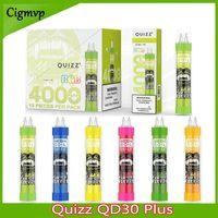 Quizz QD30 Plus Pods desechables Dispositivo de cigarrillo Kit E-cigarrillos 4000 Puffs Recargable USB 650mAh Batería 12ml PROL POD RGB Light Vape Bols