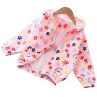 Çocuk Dış Giyim Lawadka Çocuk Ceket Kızlar Bahar Sonbahar Kapüşonlu Mont Giysi Moda Rüzgarlık 2-8 T