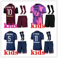 Kids 2021 2021 Kits Kits Mbappe Icardi Soccer Jersey 21/22 Mailleot De Foot Verratti di Maraia Marquinhos Kimpembe