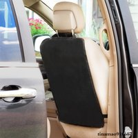 Car Back Seat Covers Protector For Kids Baby Children Kick Mats Universal Black Waterproof Protection Clean Pads From Dirt Mud Scratches Automobile Kicking Mat