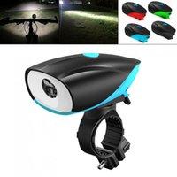 Światła rowerowe D5588 750LM LED T6 Micro USB Ładowanie głośnika Lampka rowerowa z 140 DB Horn Bell Obsługa 3 trybów