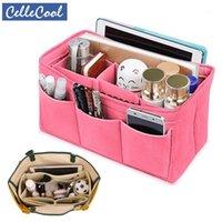 Sale Felt Cloth Insert Bag Organizer Cosmetic Bags Handbag Makeup Travel Inner Purse Portable In1