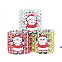 Plastikowy pierścień serwetki Boże Narodzenie Diament Salak Santa Claus Klamry Klamry Hotel Materiały Ślubne Stół HWE8686