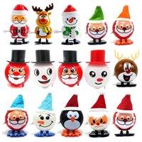 Animaux électroniques Wind-up and Winding Walking Santa Claus Elk Penguin Snowman Toy Toy Toy cadeau de Noël Moving Santas Christmass Enfant Cadeaux Jouets