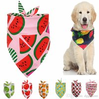 Dog Apparel Bandanas Hawaii Fruit Dogs Bandana Triangle Soft Puppy Accessories for Small Medium Large Doggy Cats Washable Pet Dogg Scarf as Birthday Party Gift A20
