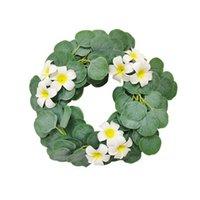 Искусственный цветок венок Гирлянда висит зелени виноградная шелковая шелковая цветочная домашняя свадебная арка настенный ремесло расположение украшения декоративные цветы