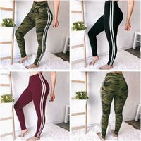 Neue Ankunft Frauen Fitness Sport Hosen Sexy Camouflage Schwarz Massivfarbe Bandband Sport Yoga Hosen Workout Elastische Leggings