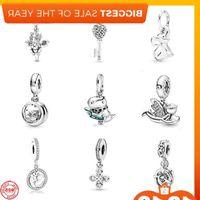 2021 New Owl Always By Your Side Key Angel Hanger Diy Kralen Fit Original Pandora Bedels Silver 925 Women's bracelet