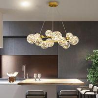 Lampada a sospensione a LED Design Nordic Lampada a sospensione moderna Ball di vetro creativo per ristorante Living Room Pendant Lights