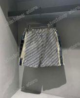 21SS Mens Designer Shorts Pants Jacquard Tessuto Doppia lettera Uomo Pant Casual Letters Pantaloni Black Grey 06