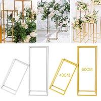 Vasos Coluna Stand Rust Dipart Decoração Partido Geométrico Suporte Centerpiece Prop Arte De Ferro Destacável Flor De Flores Do Casamento