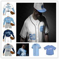 NCAA College UNC UNC North Carolina Tar Tacchi Baseball Jersey personalizzato Aaron Sabato Dylan Harris Tyler Causey Will Stewart Max Alba Alvarez Love